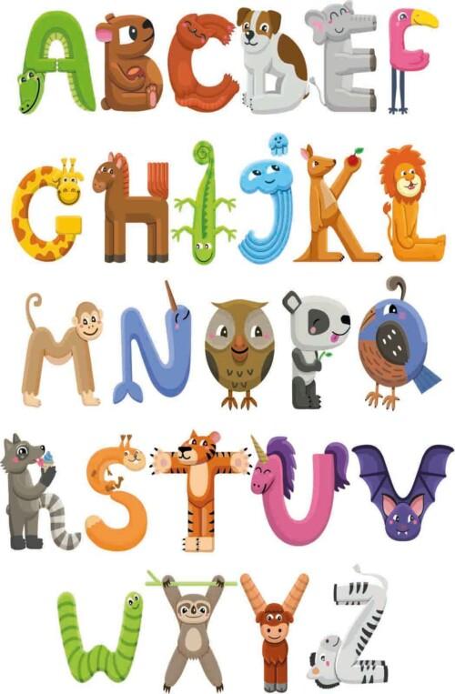 Alphabet, het alfabet voor op de kinderkamer
