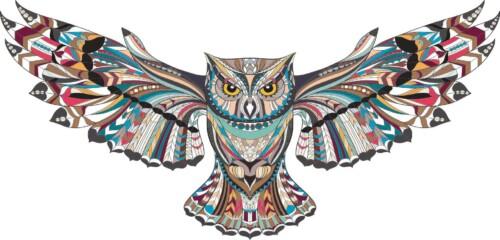 Pop Art Owl muurdecoratie
