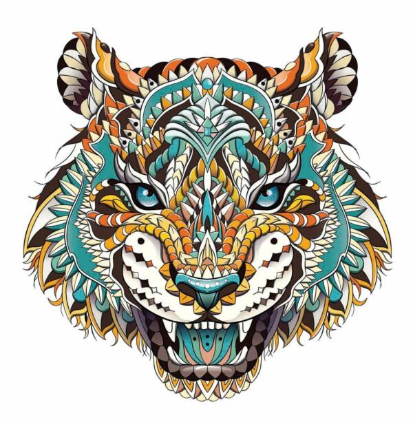 Pop Art Tiger muurdecoratie