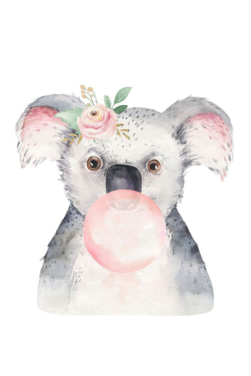 Bubbling Animals Koala - wanddecoratie kinderkamer
