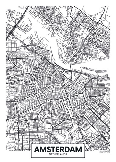 City Map - stadskaart van Amsterdam