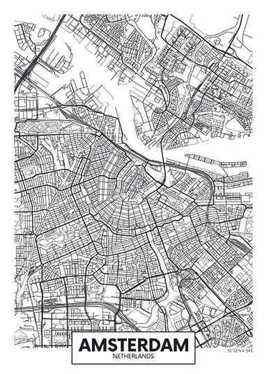 City Map - stadskaart van Amsterdam