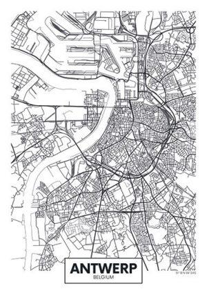 City Map - stadskaart van Antwerpen