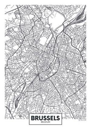 City Map - stadskaart van Brussel