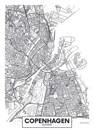 City Map - stadskaart van Kopenhagen