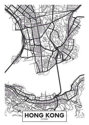 City Map - stadskaart va Hong Kong