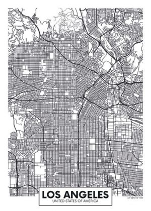 City Map - stadskaart van Los Angeles