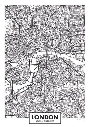 City Map - stadskaart van Londen