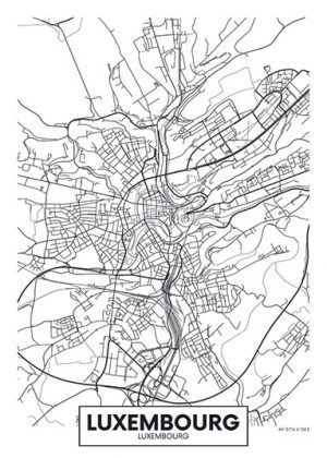 City Map - stadskaart van Luxemburg