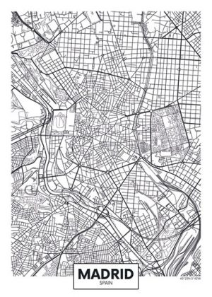 City Map - stadskaart Madrid