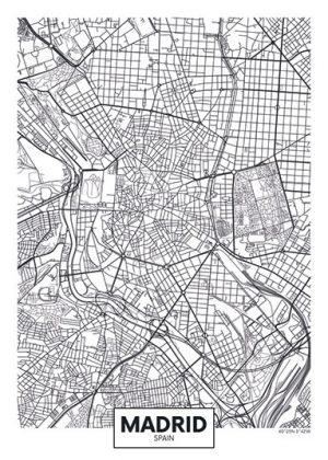 City Map - stadskaart Madrid