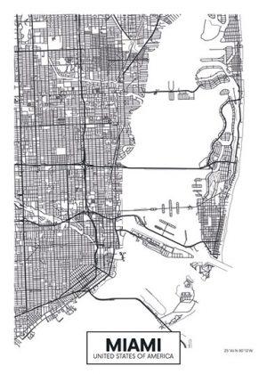 City Map - stadskaart van Miami
