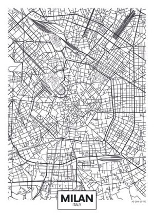 City Map - stadskaart van Milaan