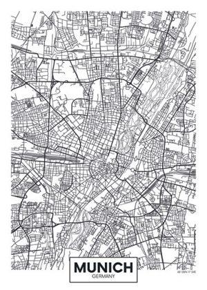 City Map - stadskaart van München
