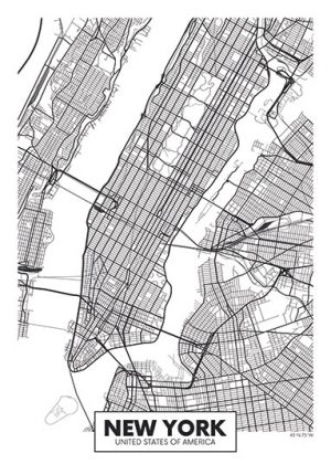 City Map - stadskaart van New York