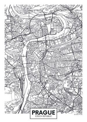 City Map - stadskaart van Praag.