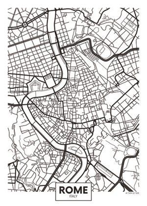 City Map - stadskaart van Rome