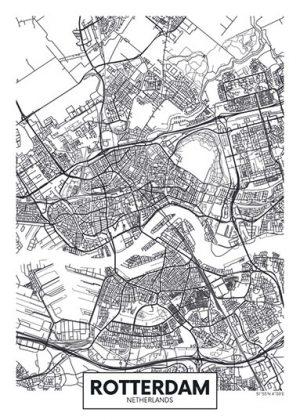 City Map - stadskaart van Rotterdam.