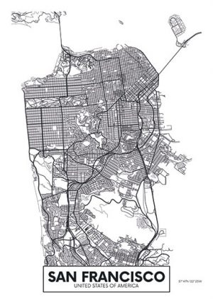City Map - stadskaart San Francisco