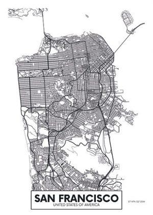 City Map - stadskaart San Francisco