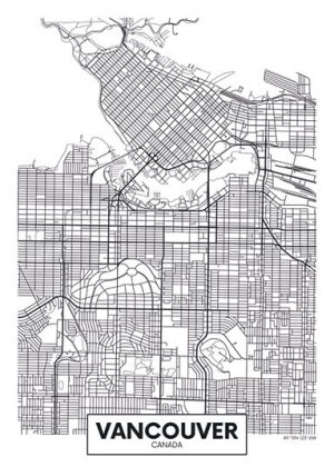 City Map - stadskaart van Vancouver