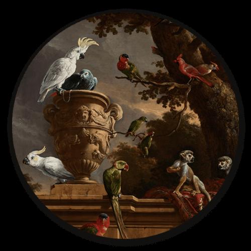 MuurcirkelDe Menagerie van Melchior d' Hondecoeter