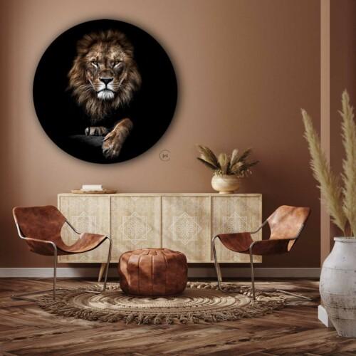 Wandcirkel leeuw