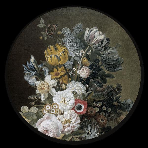 Muurcirkel Stilleven met bloemen van Eelke Jelles Eelkema