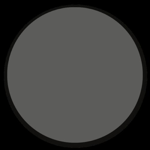 Muurcirkel antraciet - ronde wanddecoratie in uni kleuren