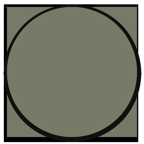 Muurcirkel army green - ronde wanddecoratie in uni kleuren