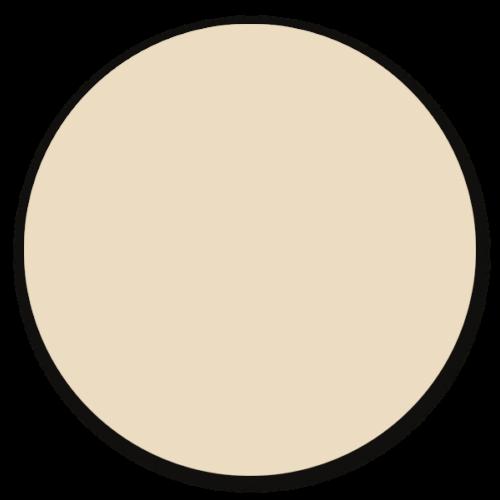 Muurcirkel beige - ronde wanddecoratie in uni kleuren