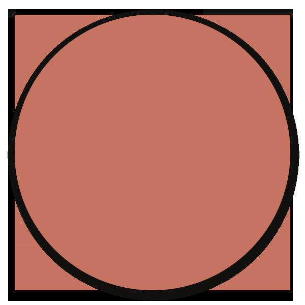 Muurcirkel donker nude pink - wanddecoratie in uni kleuren