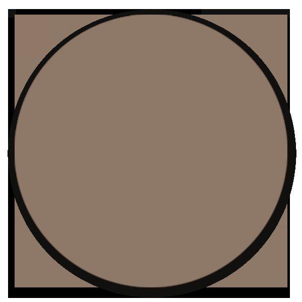 Muurcirkel donker taupe - ronde wanddecoratie in uni kleuren