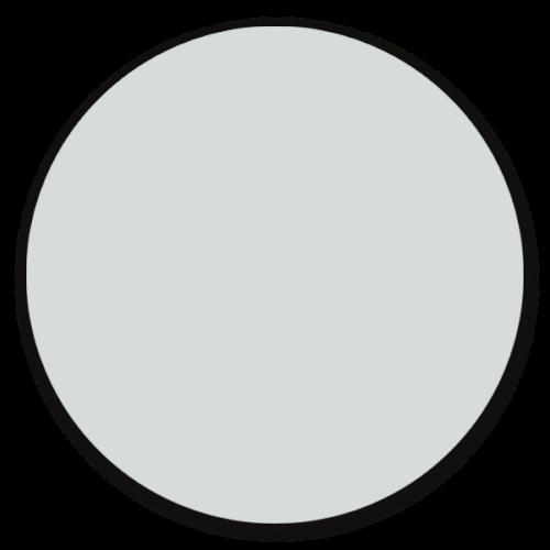 Muurcirkel licht blauw - ronde wanddecoratie in uni kleuren
