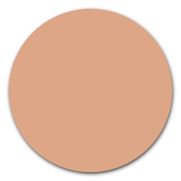 Muurcirkel licht nude pink - ronde wanddecoratie in uni kleuren