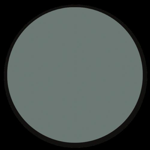 Muurcirkel licht petrol - ronde wanddecoratie in uni kleuren