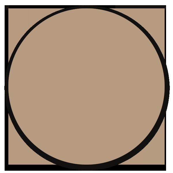 Muurcirkel licht taupe - ronde wanddecoratie in uni kleuren