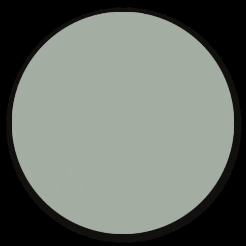 Muurcirkel misty blue - ronde wanddecoratie in uni kleuren