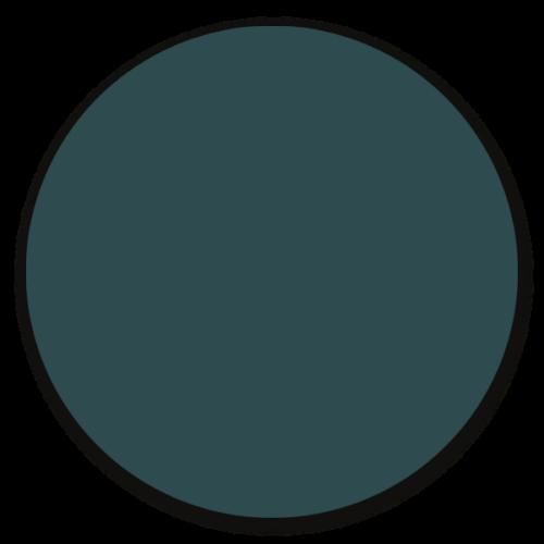Muurcirkel petrol - ronde wanddecoratie in uni kleuren