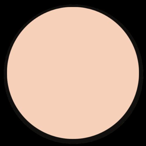 Muurcirkel zacht roze - ronde wanddecoratie in uni kleuren