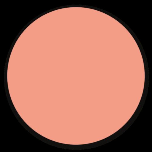 Muurcirkel zalm - ronde wanddecoratie in uni kleuren
