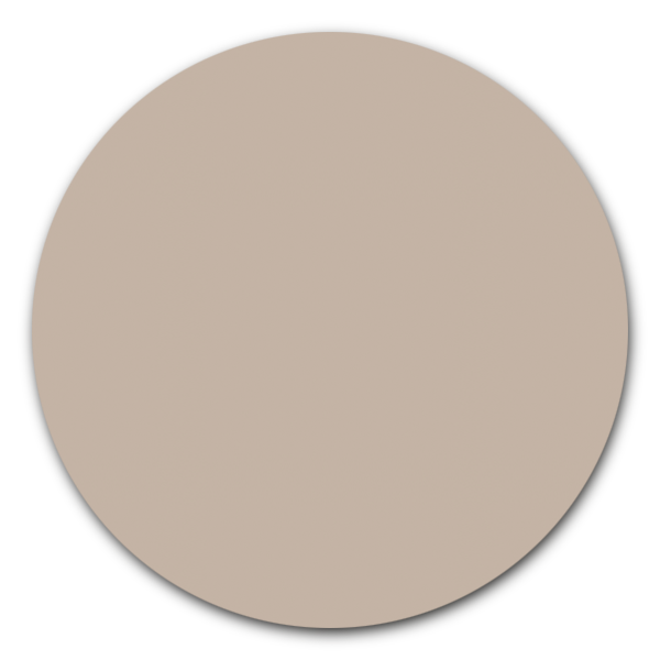 Muurcirkel zand - ronde wanddecoratie in uni kleuren