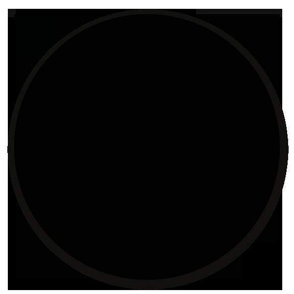 Muurcirkel zwart - ronde wanddecoratie in uni kleuren
