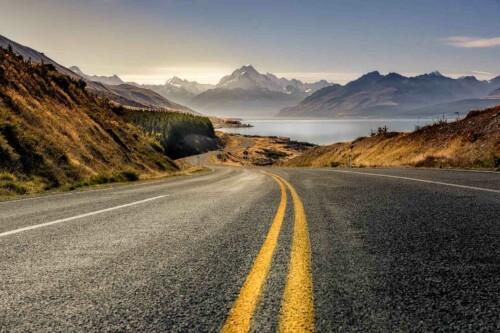 Road - natuur wand en muurdecoratie