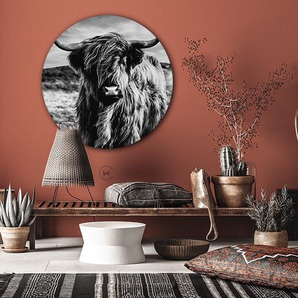 Highland Cow wandcirkel