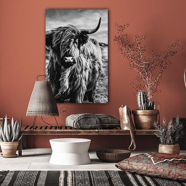 Unieke poster Highland Cow