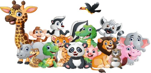 Animal Friends - wanddecoratie kinderkamer muur