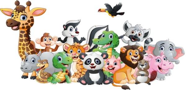 Animal Friends - wanddecoratie kinderkamer muur