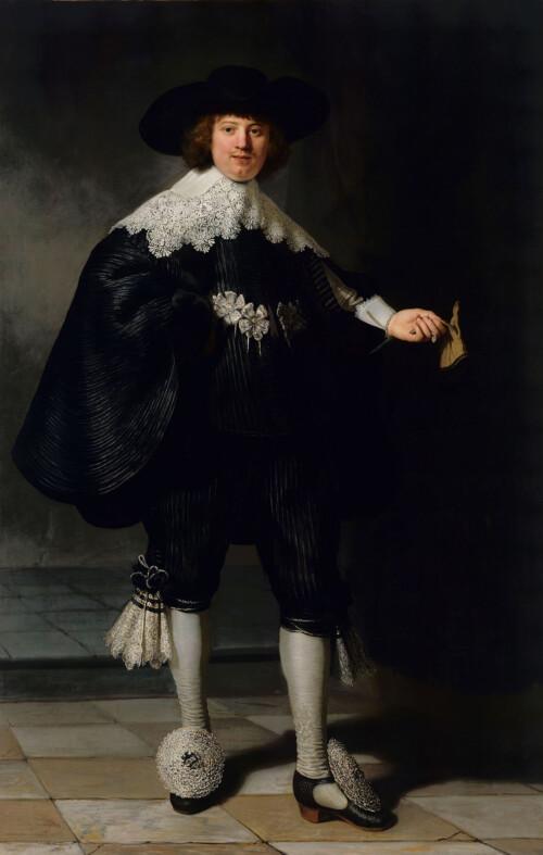 Portret van Marten Soolmans - Rembrandt van Rijn