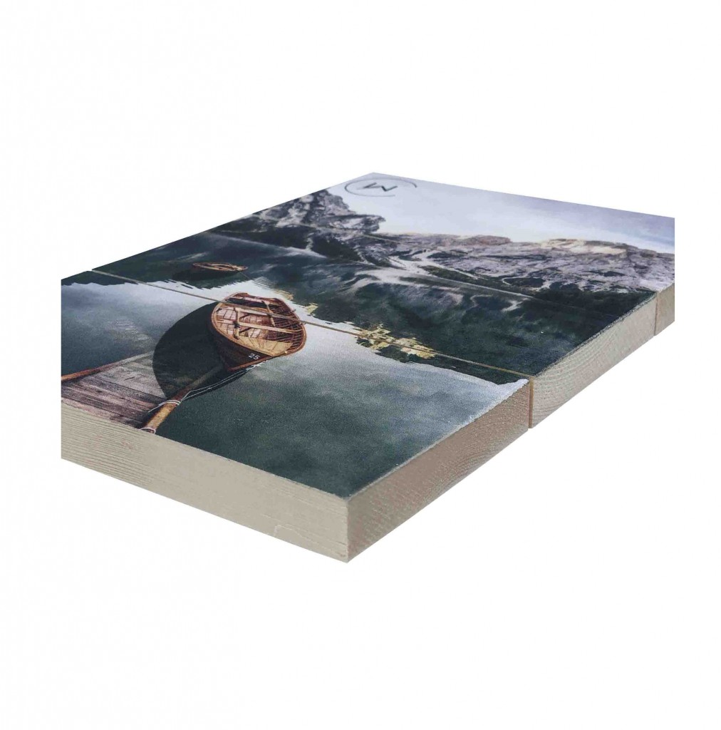 Afbeelding op hout als wanddecoratie